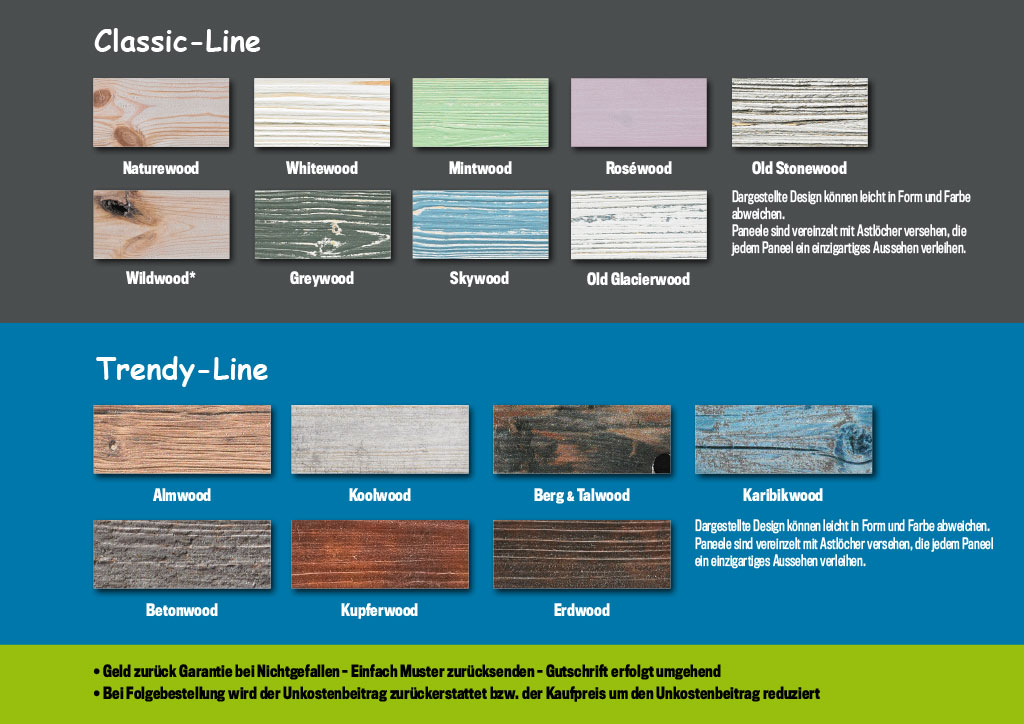 Classic-Line & Trendy-Line von wandwood®